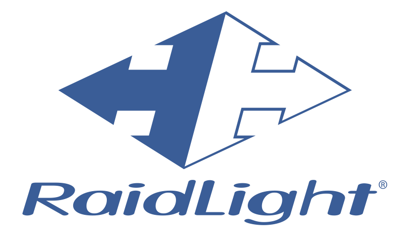 RaidLight logo modré